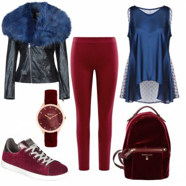Outfit Rosso vellutato