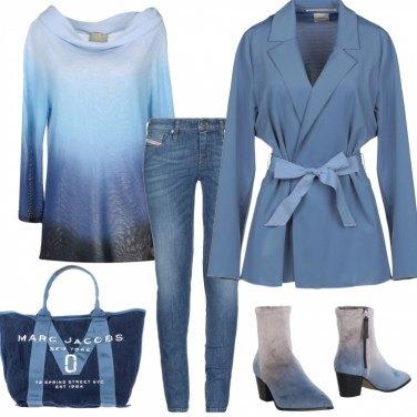 Outfit Sfumature azzurre