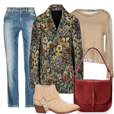 Outfit Il cappotto floreale