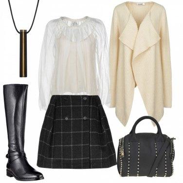 Outfit Minigonna e maxi cardigan