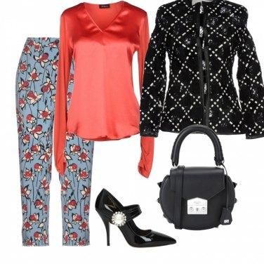Outfit Pantalone con fantasia