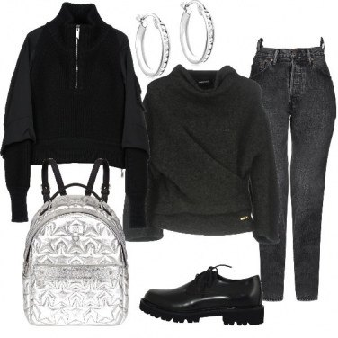 Outfit TSK Saldi in black and silver