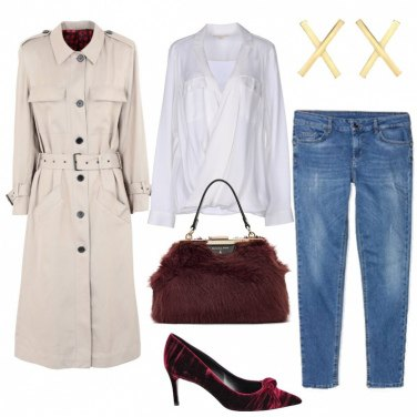 Outfit Trendy in trench