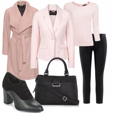 Outfit Rosa in ufficio low cost