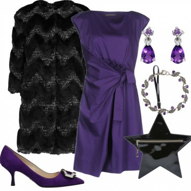 Outfit Cerimonia in viola