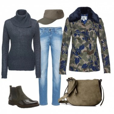 Outfit Camouflage glam
