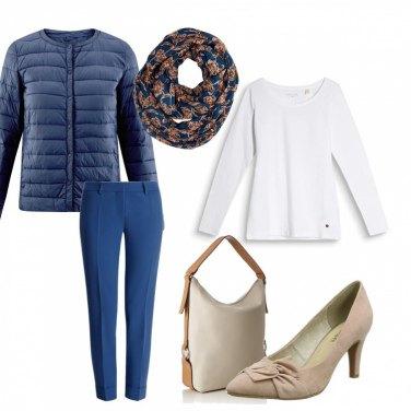 Outfit Il Blu mezza stagione