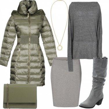Outfit Piumino caldo e chic