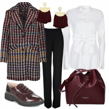 Outfit Calde ed eleganti in bordeaux