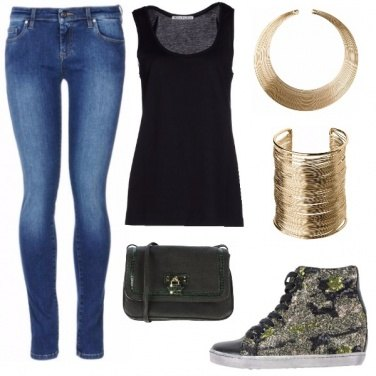 Outfit Gold casual