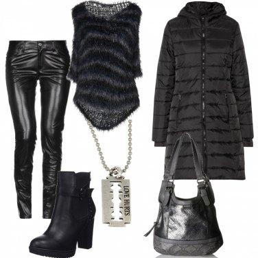 Outfit Pantaloni Ecopelle