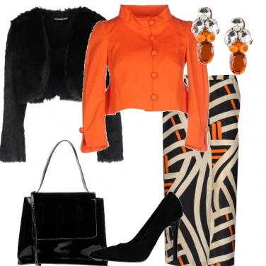 Outfit Arancio per una cerimonia