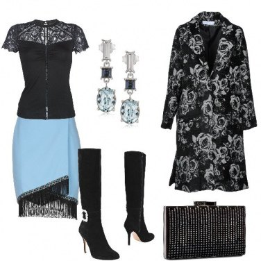 Outfit Pizzo e frange in discoteca