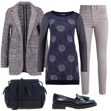 Outfit Di blu e di grigio