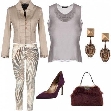 Outfit Pantalone a fantasia