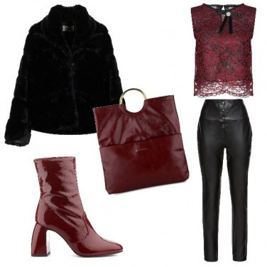 Outfit Lo stivaletto rosso