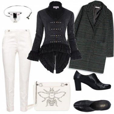 Outfit Trendy in bianco e nero