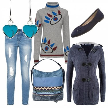 Outfit Jeans strappato e Montgomery