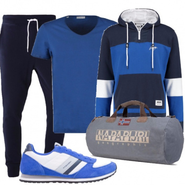 Outfit In blu in palestra