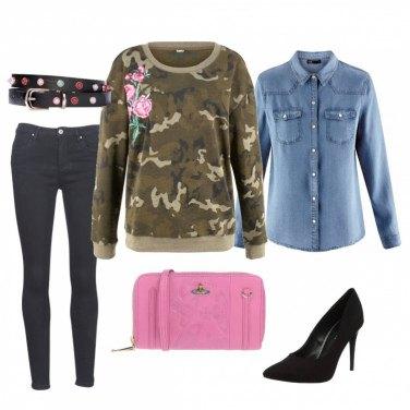 Outfit Felpa glam