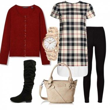 Outfit Abito-camicia in stile Burberry