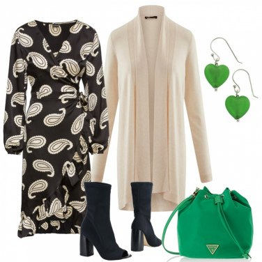 Outfit L\'abito stampa Paisley