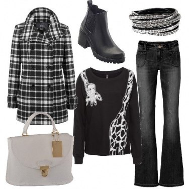 Outfit Only black and white