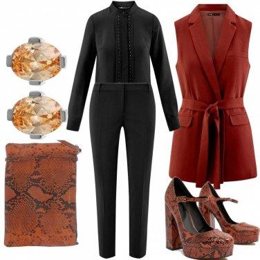 Outfit Pitonato colorato