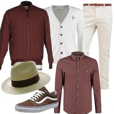 Outfit Bianco e cioccolato