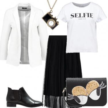 Outfit Modaiola in bianco e nero