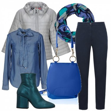 Outfit Blu casual