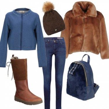 Outfit Riparata dal freddo