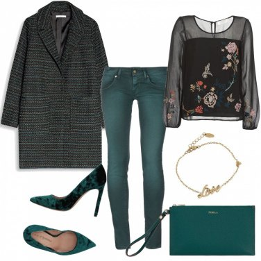 Outfit Chic coi pantaloni