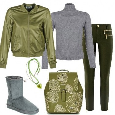 Outfit Green leaf