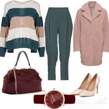 Outfit Bordeaux protagonista