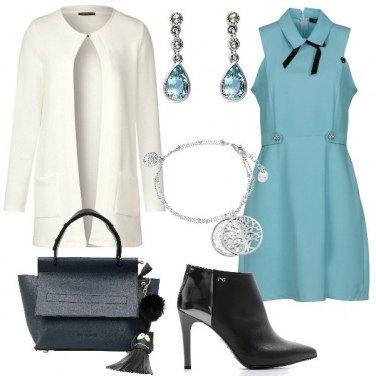 Outfit Celeste e nero