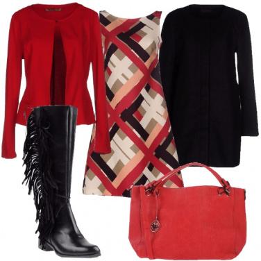 Outfit Strisce e frange
