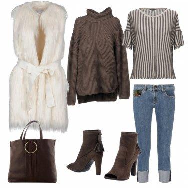 Outfit Caldo marrone