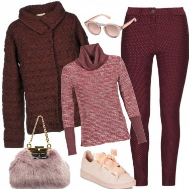 Outfit Colorato rosso trendy