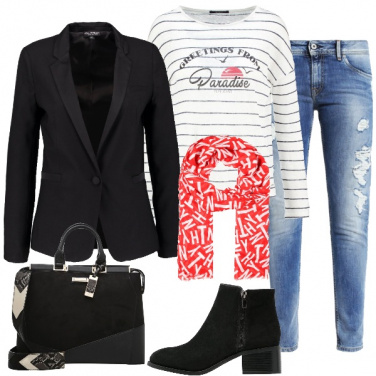 Outfit Comodamente in jeans