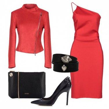 Outfit Rosso e bracciale Pietro Ferrante