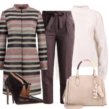 Outfit Il cappottino a righe