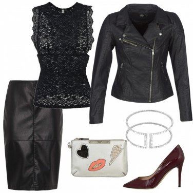 Outfit Pizzo e chiodo