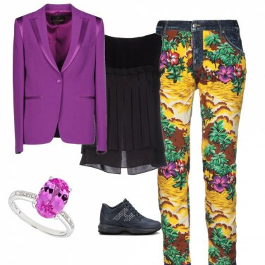 Outfit Purple ring