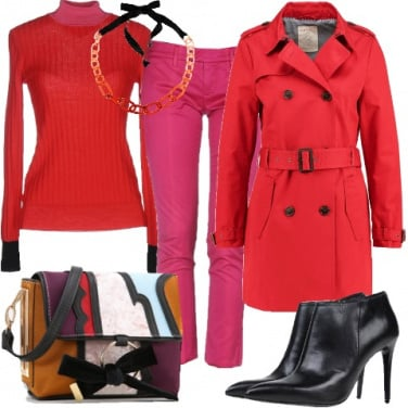 Outfit Colori dinamici in inverno