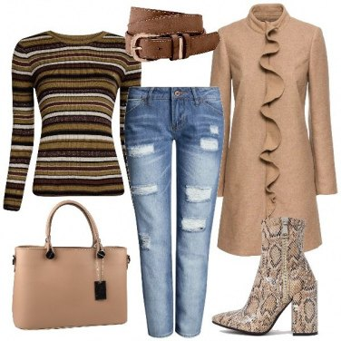 Outfit Gli stivaletti pitonati
