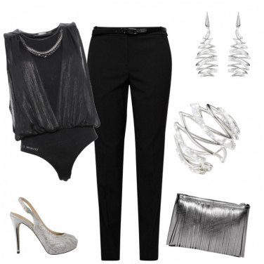Outfit Look argenteo