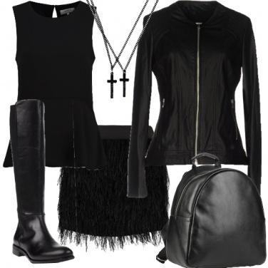 Outfit Serata nero rock