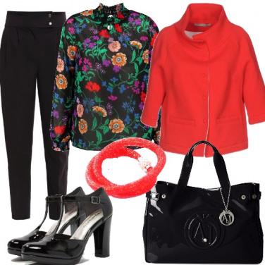 Outfit Semplicità e stampe floreali