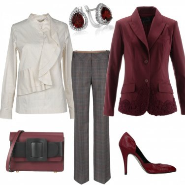 Outfit La giacca bordeaux